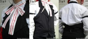 Grell Sutcliff Vest and Bowtie by Ratsukorr