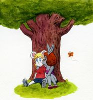 Marlene and Oliver, sitting in a tree... by rocketdave