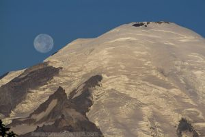 Blue Moon over Mt. Rainier by metacom