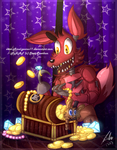 =FNAF= Foxy Treasure by Amel-Genius17