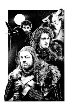 House Stark of Winterfell by RandySiplon