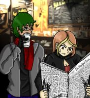 Jake and Faye at the Coffee Shop by Kay-is-Dreaming