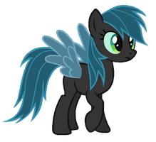 Rainbow Dash in Queen Chrysalis's colors by AdolfWolfed4Life