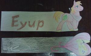 Big Mac and Fluttershy Bookmark by Xylan-Moonhawk