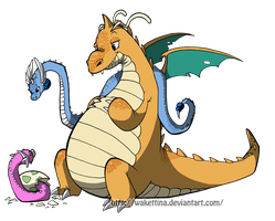Dragonite by Wakettina