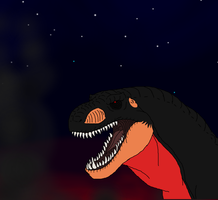 Black T-rex by Redspets