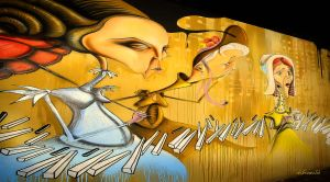 Art of mural painting by hotonpictures