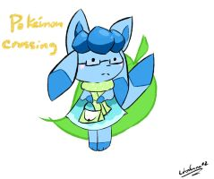 Glaceon Animal Crossing by lobaluna02