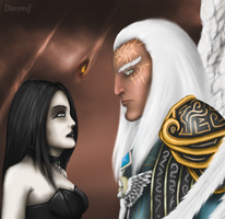 Azrael and mortal by DaremifKo