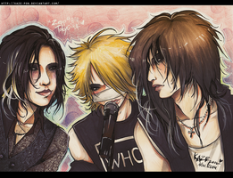 The Gazette - Live trio by KaZe-pOn