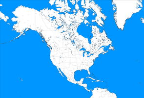 Large Blank North America Template by mdc01957