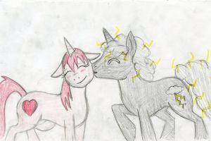 Power Brony with his girlfriend by Dinoboy134