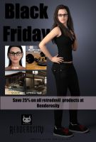 Black Friday Sale at Renderosity by RetroDevil