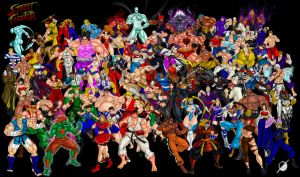 All Street Fighter Series by Osmar-Shotgun