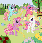 My Little Pony: Friendship Gardens - Mane 4 by BrandyKiss