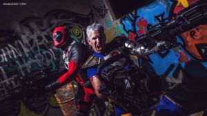 Marvel - Cable and Deadpool by alainbrian