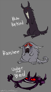 Gengar Variants by Wolfy-T