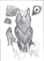 Wolf Drawing by Kayah-D-Horse-Maiden