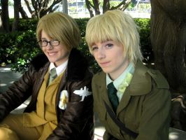 APH: England and America Cosplay: AX 2012 by churchevelt