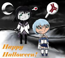 Grimmjow and Ulquiorra's Halloween by Donnie04