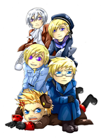 APH Northen Europe Chibis by BlackMayo