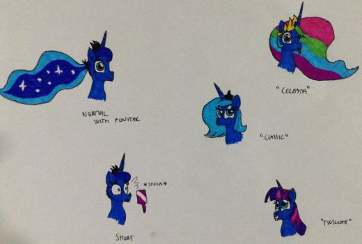 Luna Different Hairstyles by Frollo7797