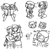 pewdiecry doodles by AssasinCylenia