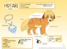 Ref Sheet: Hotari by nooby-banana