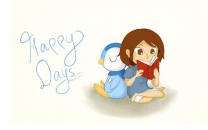 Happy Days with Piplup by emilialight