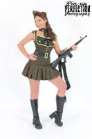 Military Pinup by NightshadeBeauty