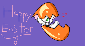 HAPPY EASTER! art trade with splashy by JJ-cat
