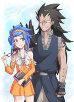 levy + gajeel by majigoma