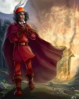 Firey god \Farevell by LordSiverius
