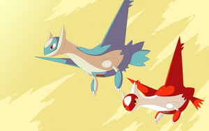 Latios and latias wallpaper by RawChomp
