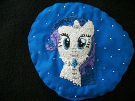 MLP-FiM embroidery patch Rarity Snow Princess by grandmoonma