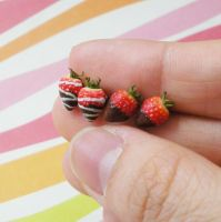 strawberry earrings 1 by PetiteCreation