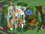 Wind and Ice Love in the Jungle by EricTheWhitelion