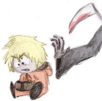 Kenny and his PSP awaiting Death -doodle- by Dragongirl9888