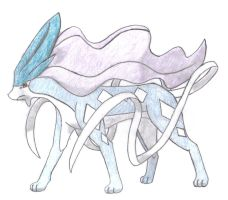 suicune hand-drawn by aaronio999