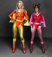Electra Woman and Dyna Girl. RE S by Aszmo