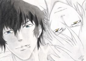 Kougami and Makishima by 17Shadow17