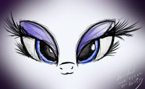 Rarity's eyes by bartkoju