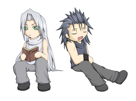 FFVII--Sephy and Zacky by Twilight-Deviant