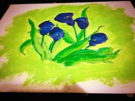 Painting3 Plum Tulips by jbChimchar