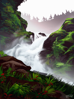 Waterfall Speedpaint by daPatches