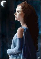 Padme in fear by Kirana