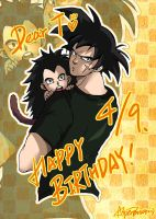 DB - Bardock and Raditz by LotusMartus