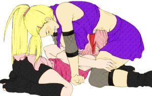 ino x sakura by 6pains