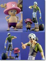 one piece p.o.p usopp chopper by rtown66