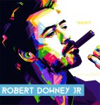 Robert Downey Jr New Wpap by Lana1412al